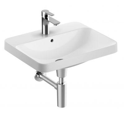 Koło Variform umywalka 55x45 cm wpuszczana prostokątna biała 500.740.01.6