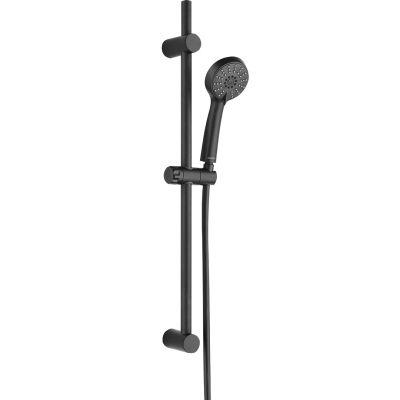 Kuchinox Cento zestaw prysznicowy z drążkiem czarny NKC71A1