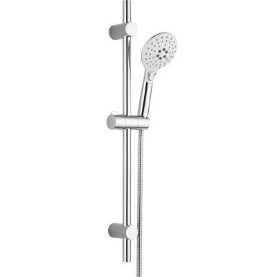 Laveo Boho zestaw prysznicowy ścienny biały/chrom NLH61A1