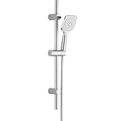 Laveo Boho zestaw prysznicowy ścienny biały/chrom NLH61AK