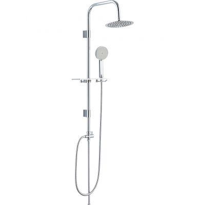 Laveo Marin zestaw prysznicowy ścienny z deszczownicą Slim chrom PL600OX