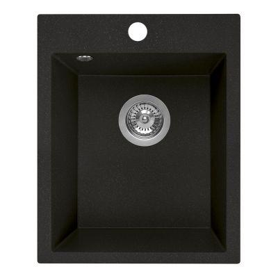 Laveo Chichi zlewozmywak granitowy 48x39 cm 1-komorowy czarny SBH710T