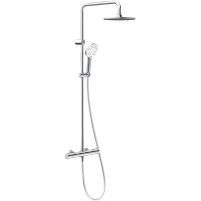 Oltens Atran 220 zestaw prysznicowy termostatyczny z deszczownicą okrągłą chrom 36500100
