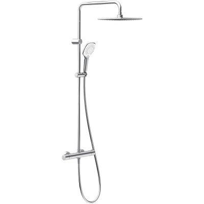 Oltens Atran (S) 220 zestaw prysznicowy termostatyczny z deszczownicą kwadratową 36501100