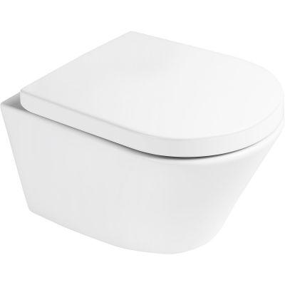 Zestaw Oltens Jog miska WC wisząca PureRim z deską wolnoopadającą 42004000
