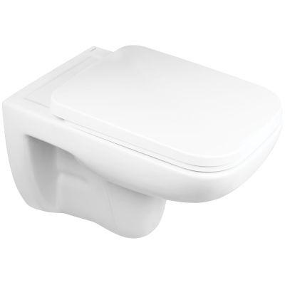 Oltens Ribe miska WC wisząca PureRim z deską wolnoopadającą biała 42010000