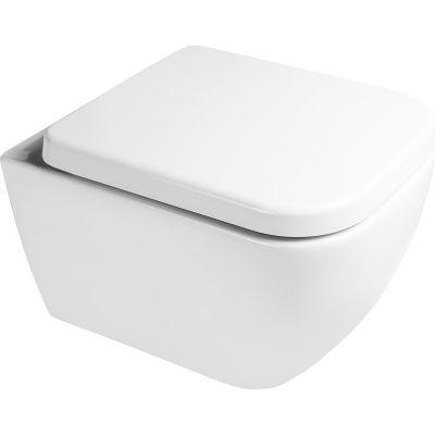 Zestaw Oltens Vernal miska WC wisząca PureRim z powłoką SmartClean z deską wolnoopadającą 42506000
