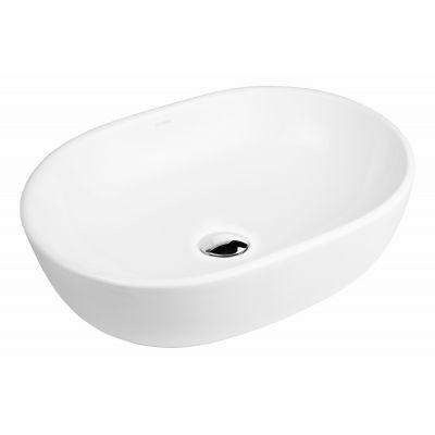 Oltens Hamnes umywalka 47,5x34 cm nablatowa owalna biała 40309000