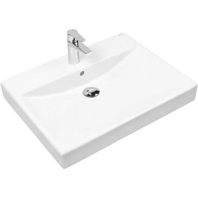 Oltens Hofsa umywalka 60x46 cm nablatowa z powłoką SmartClean biała 41805000