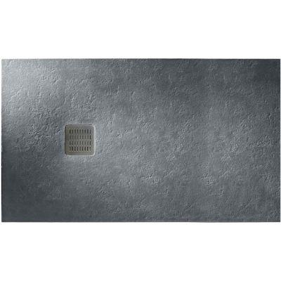 Roca Terran brodzik prostokątny 100x80 cm kompozyt Stonex szary łupek AP013E832001200