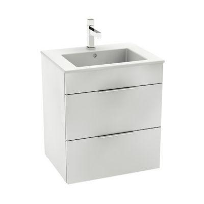 Roca Unik Suit zestaw łazienkowy 55 cm umywalka z szafką biały połysk A85118A806