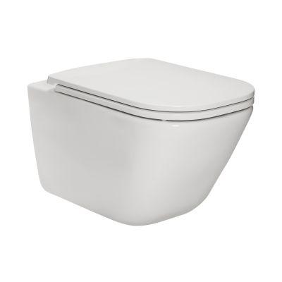 Roca Gap Square miska WC wisząca Rimless Maxi Clean biała A34647L00M