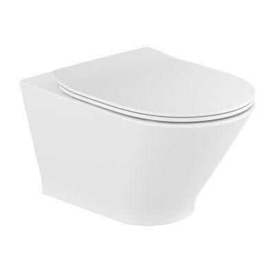 Roca Gap Round miska WC wisząca Rimless z deską wolnoopadającą slim biała A34H0N8000