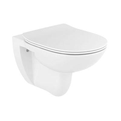 Roca Debba Round miska WC wisząca z deską wolnoopadającą Slim biała A34H992000