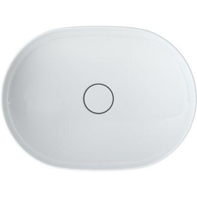 Roca Inspira Round umywalka 50x37 cm owalna nablatowa biała A327520000