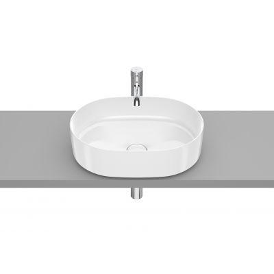 Roca Inspira Round umywalka 50x37 cm nablatowa owalna Maxi Clean biała A32752000M