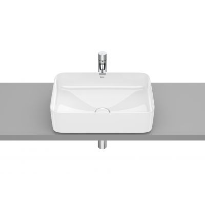 Roca Inspira Square umywalka 50x37 cm nablatowa prostokątna Maxi Clean biała A32753000M