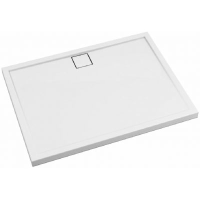 Schedpol Omega brodzik prostokątny 100x90 cm biały gładki 3.0457