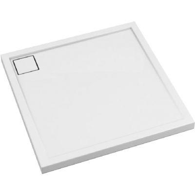 Schedpol Omega brodzik kwadratowy 80x80 cm biały gładki 3.0458