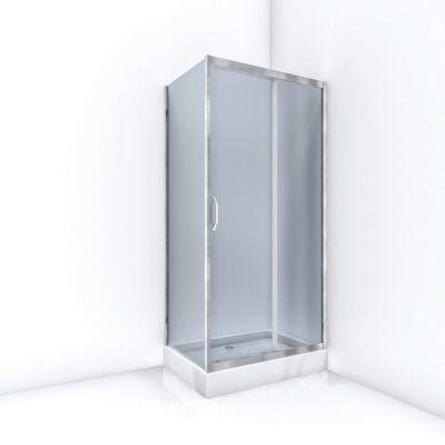 Bravat ID kabina prysznicowa 100x70 cm prostokątna szkło grafitowe ID-RCST70x100