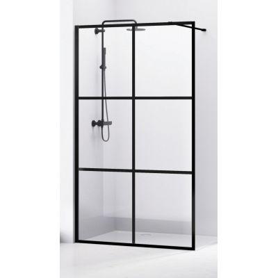 Bravat SL ścianka prysznicowa 100 cm Walk-in profile czarne SL171-100