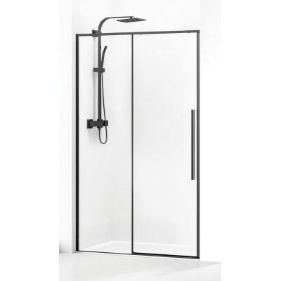 Bravat SL drzwi prysznicowe 120 cm wnękowe profile czarne SL191-120