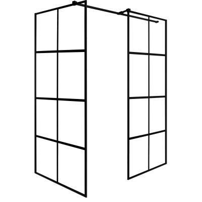 Besco Excea Walk-In kabina prysznicowa 120x80 cm prostokątna szkło z motywem EXC-128-190B