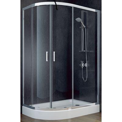 Besco Modern 185 kabina prysznicowa 120x90 cm asymetryczna szkło przezroczyste MA-120-90-C