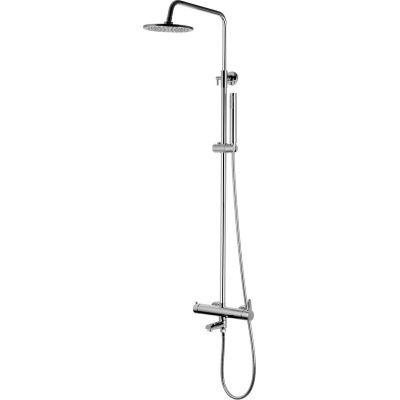 Corsan Lugo Slim zestaw prysznicowy z deszczownicą ścienny chrom CMN014LUGOSLIM