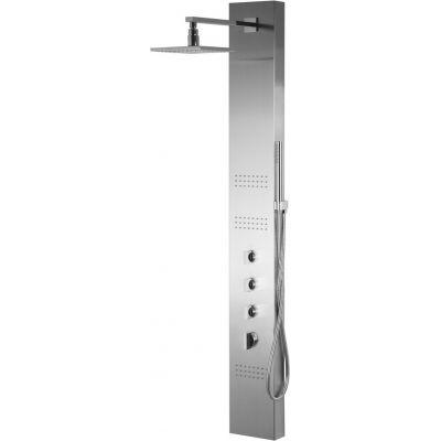 Corsan Neo panel prysznicowy termostatyczny ścienny LED chrom S060TNEOLED