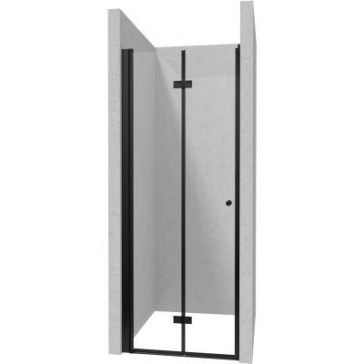 Deante Kerria Plus drzwi prysznicowe 90 cm czarny/szkło przezroczyste KTSXN41P
