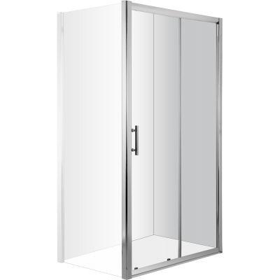 Deante Cynia drzwi prysznicowe 160 cm chrom/szkło przezroczyste KTC016P