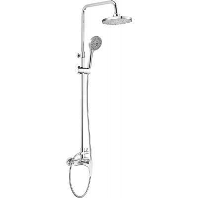 Deante Peonia zestaw prysznicowy ścienny chrom NAC019M