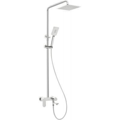 Deante Alpinia zestaw prysznicowy ścienny chrom NAC01AM