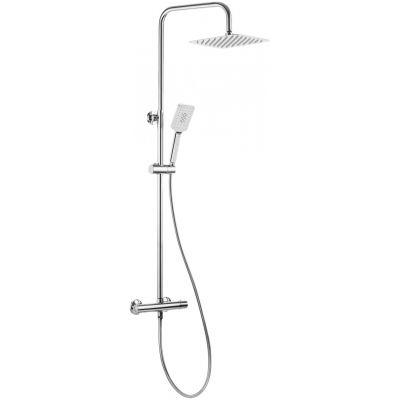 Deante Alpinia zestaw prysznicowy termostatyczny z deszczownicą chrom NAC01LT
