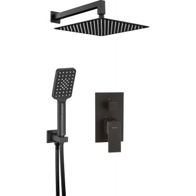 Deante Anemon zestaw prysznicowy podtynkowy czarny NACN9MP