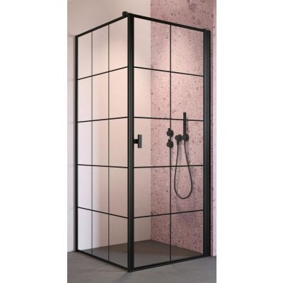 Radaway Nes Black S1 ścianka prysznicowa 100 cm boczna szkło Factory 10039100-54-55