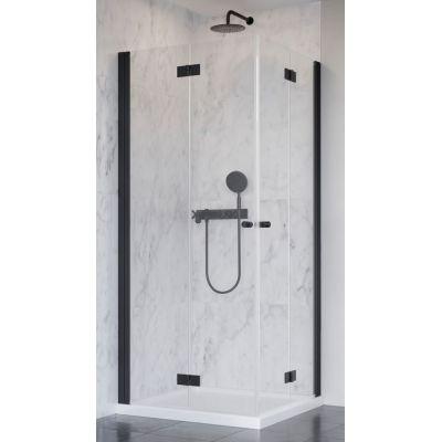 Radaway Nes Black KDD-B drzwi prysznicowe 80 cm lewe profile czarne/szkło przezroczyste 10024080-54-01L