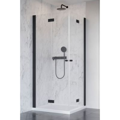 Radaway Nes Black KDD-B drzwi prysznicowe 80 cm prawe profile czarne/szkło przezroczyste 10024080-54-01R