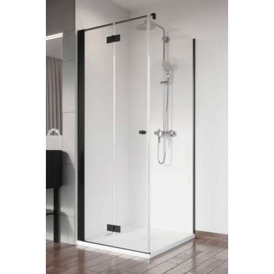Radaway Nes Black KDJ B drzwi prysznicowe 90 cm lewe szkło przezroczyste 10025090-54-01L