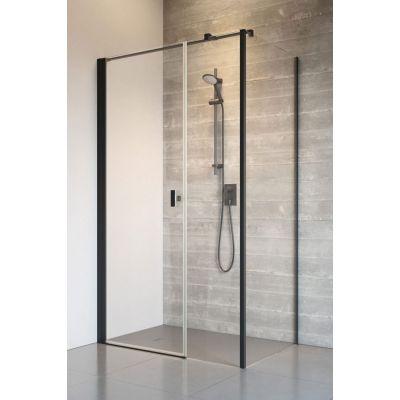 Radaway Nes 8 Black KDS I drzwi prysznicowe 120 lewe szkło przezroczyste 10073120-54-01L/10073112-54-01