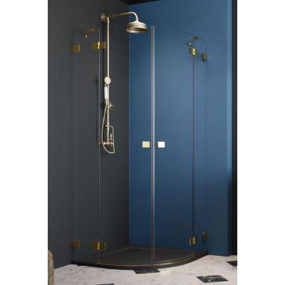Radaway Essenza Pro Gold PDD kabina prysznicowa 80 cm część lewa złoty/szkło przezroczyste 10095080-09-01L