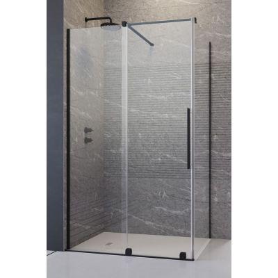 Radaway Furo Black KDJ drzwi prysznicowe 140 cm lewe szkło przezroczyste 10104722-54-01L/10110680-01-01