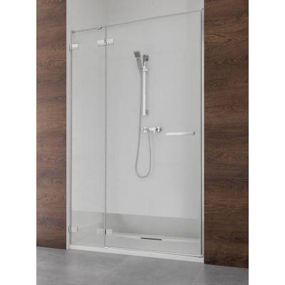 Radaway Euphoria DWJ drzwi wnękowe 80 cm prawe ze ścianką krótką 383512-01R/383212-01R