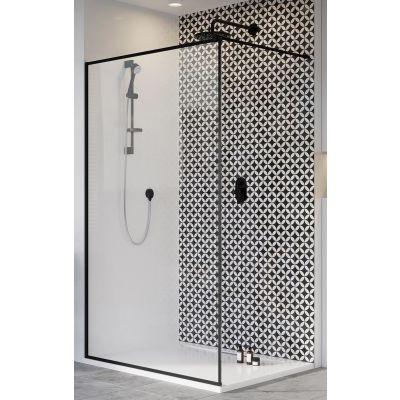 Radaway Modo X Black II Frame ścianka prysznicowa 100 cm wolnostojąca 389304-54-56