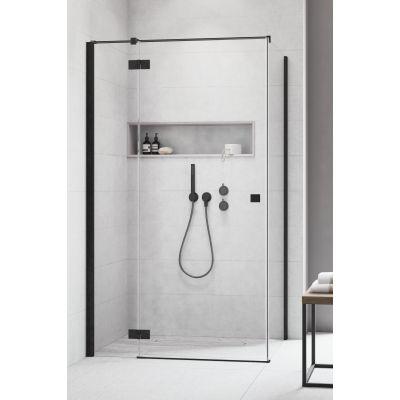 Radaway Essenza New Black KDJ drzwi prysznicowe 80 cm lewe czarny/szkło przezroczyste 385043-54-01LCZARNEUSZCZELKI