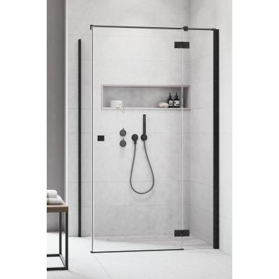Radaway Essenza New Black KDJ drzwi prysznicowe 120 cm prawe do ścianki szkło przezroczyste 385042-54-01R