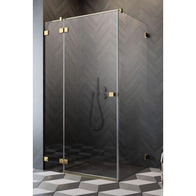 Radaway Essenza Pro Gold KDJ drzwi prysznicowe 80 cm lewe złoty/szkło przezroczyste 10097080-09-01L