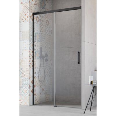 Radaway Idea Black DWJ drzwi prysznicowe 130 cm wnękowe lewe szkło przezroczyste 387017-54-01L
