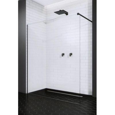 Radaway Modo New II Black Walk-In ścianka 130 cm szkło przezroczyste 389134-54-01